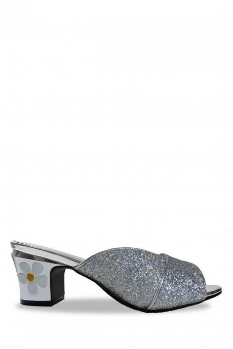 Jacquelee Amy Silver Low Heel